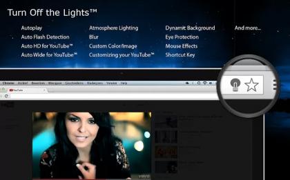 开关灯特效Chrome扩展