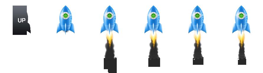 蓝叶EMLOG火箭特效返回顶部插件